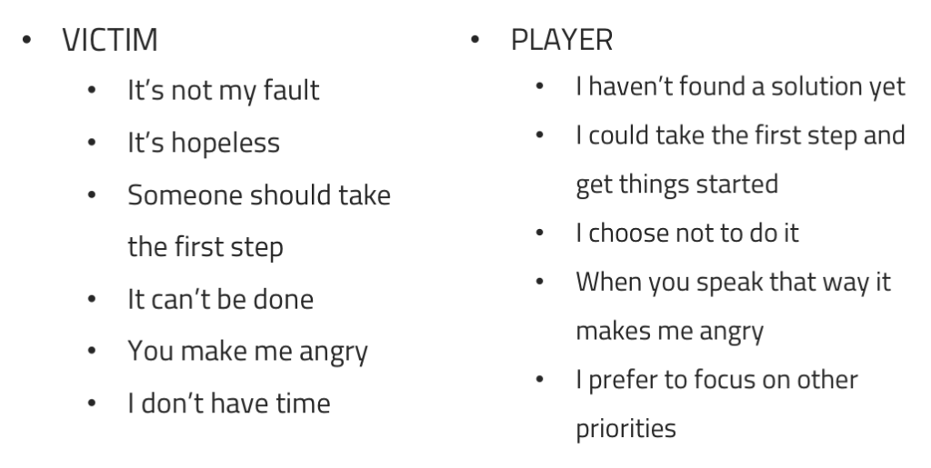 Language from the Victim-Player frame